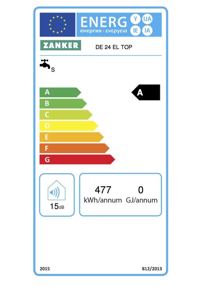 Zanker Durchlauferhitzer vollelektronisch geregelt DE 24 EL TOP