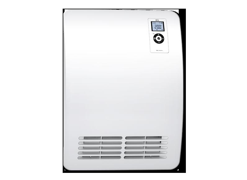 AEG Ventilatorheizer VH Comfort in Vollmetallausführung (2,00kW) mit elektronischem Raumtemperaturregler (Badheizer)