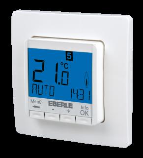 Unterputz Raumtemperaturregler Eberle FIT  3R, Display blau