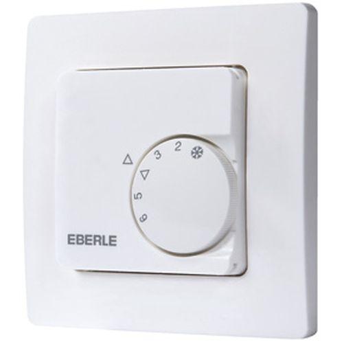 Raumtemperaturregler Eberle RTR-E 8031-50, inkl. Zentralscheibe und Rahmen